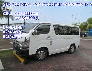 Van for rent hire a van rent a car car rental van for rent van rental -- Rental Services -- Metro Manila, Philippines