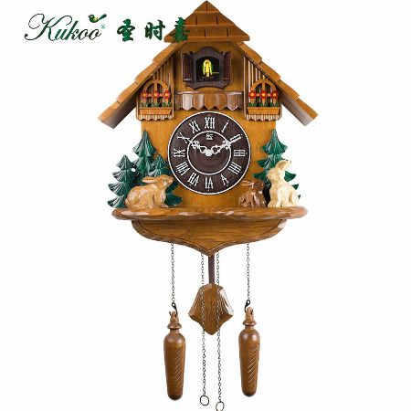 Winnie The Pooh And Rabbit Cuckoo Wall Clock [ All Home